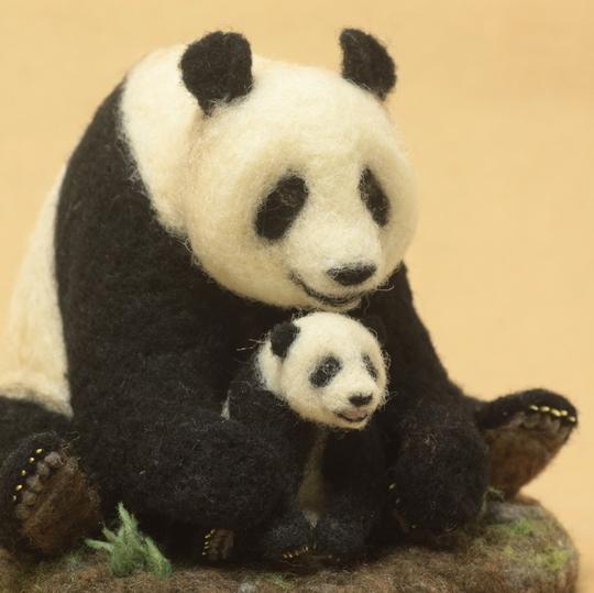 needle felt panda